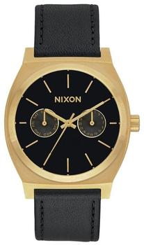 Nixon Time Teller Deluxe Leather gold/black sunray
