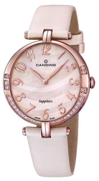 Candino Damen Analog Quarz Uhr mit Leder Armband C4602/3