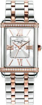 THOMAS SABO Damen Analog Quarz Uhr mit Edelstahl Armband WA0232-272-201-32x25 mm
