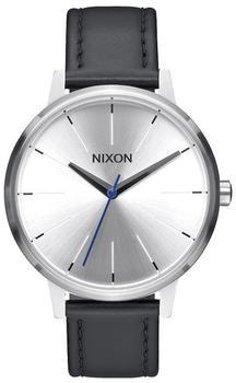Nixon The Kensington Leather silber/schwarz/blau (A108-2184)