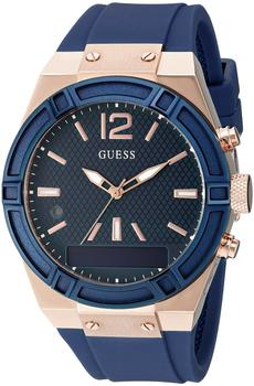 Guess Connect 41mm Blau & Rotgold (C0002M1)