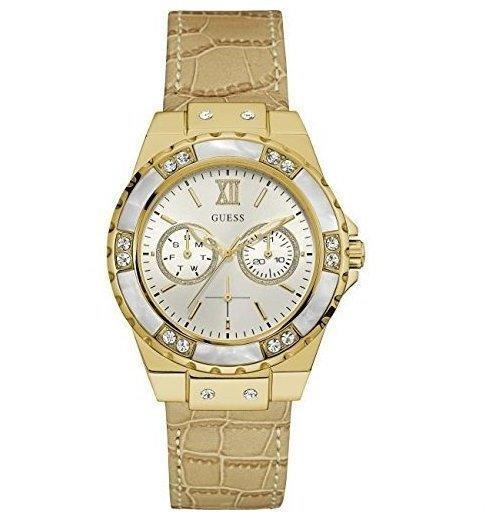Guess Damen Analog Quarz Uhr mit Edelstahl Armband W0775L2