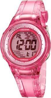 Calypso Damen-Armbanduhr Sport Chronograph Quarz-uhr Pu Pink