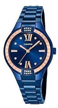 Calypso Damenuhr K5720/6 Armbanduhr blau