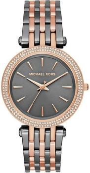Michael Kors Mk3584 Darci Grau Rose Edelstahl Armband Damenuhr Armbanduhr