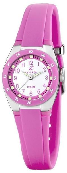 Calypso Damenuhr K6043-C - silberfarben/pink - - 25 mm