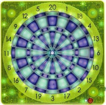 Carromco Smartness Dartboard Square-501, gelb