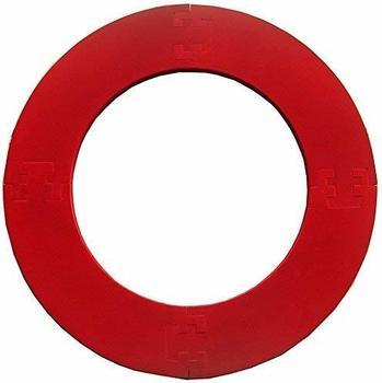 Best Sporting Dart Umrandung, passend für alle Dartboards mit 45,5cm Durchmesser, vierteilig, 2,5 kg, rot