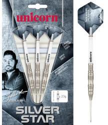 Unicorn Darts World Champion Jelle Klaasen Silver Star Steel Darts 21g