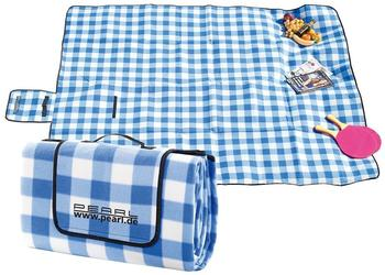 Callstel Fleece-Picknick-Decke mit wasserabweisender Unterseite, 200 x 175 cm