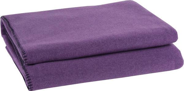 Zoeppritz Soft-Fleece 160x200cm aubergine