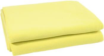 Zoeppritz Soft-Fleece Decke 160x200cm neon-grün