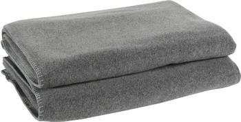 Zoeppritz Soft-Fleece 160x200cm medium-grey