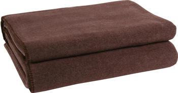 Zoeppritz Soft-Fleece 160x200cm dark-brown