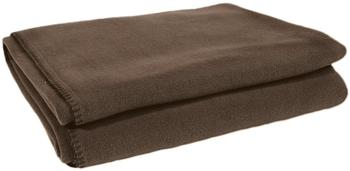 Zoeppritz Soft-Fleece Decke 160x200cm cholate