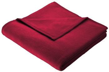 Biederlack Cotton Pure 150x200cm rot