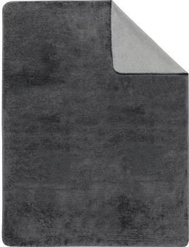 Ibena Sorrento Doubleface 150x200cm grau/silber