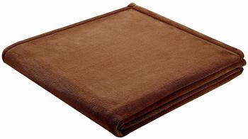 Biederlack King Fleece Uni 150x200cm braun