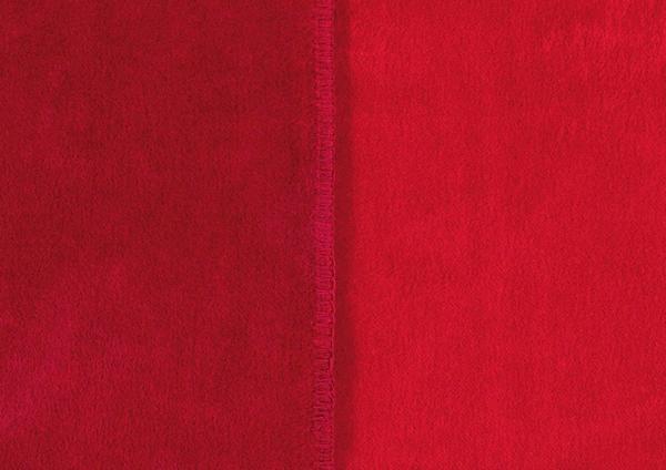 Ibena Sorrento Doubleface 220x240cm dunkelrot/rot