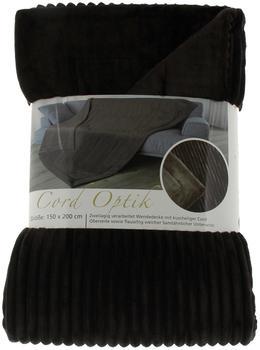 Gözze Cord Optik 150x200cm dunkelbraun