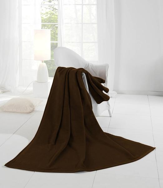 Biederlack Orion Cotton Uni 150x200cm dunkelbraun
