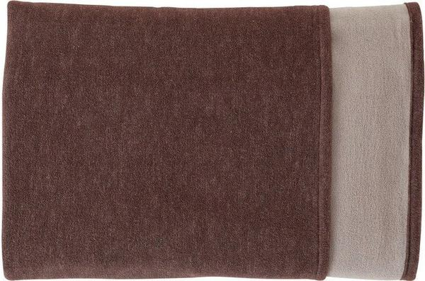 Ibena Doubleface Cotton Pur 140x200cm braun