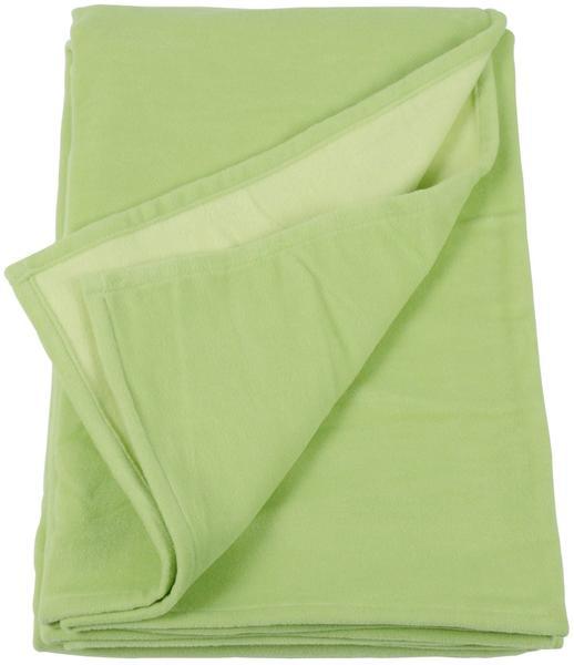 Ibena Doubleface Cotton Pur 140x200cm grün