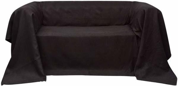 vidaXL Micro-Suede Sofaüberwurf 210x280cm braun