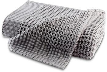 Biederlack Knit 130x170cm grau