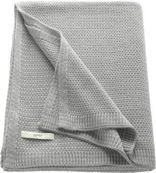 Esprit Home Knitted 130x170cm hellgrau