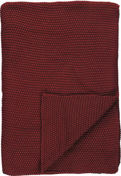 Marc O'Polo Nordic Knit 130x170cm red