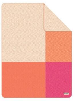 S.Oliver Jacquard-Decke (6002247) orange/pink