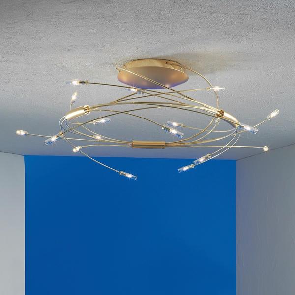 Escale Spin Deckenleuchte vergoldet 9-flammig
