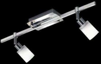 Knapstein LED Deckenleuchte, 2-flammig, 50 cm, Zylinderglas weiß messingfarbig 21.758.03