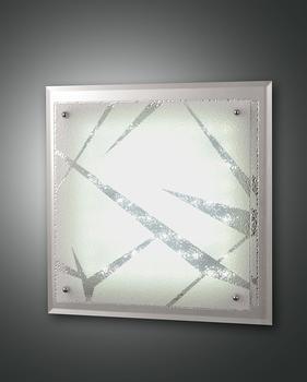 Fabas Luce Galaxy Deckenleuchte, LED, 18W weiß Glas Spiegel und Kristall mit Dekor