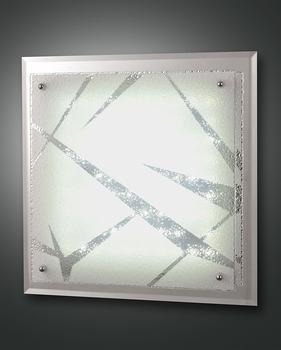 Fabas Luce Galaxy Deckenleuchte, LED, 21W weiß Glas Spiegel und Kristall mit Dekor