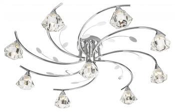 Deckenleuchte m. Zugschalter in Chrom Lampe Deckenlampe Beleuchtung 9xG9