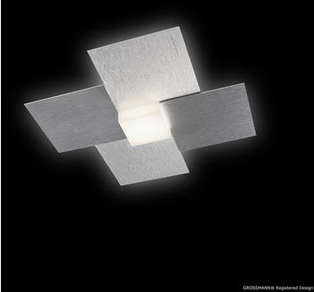 Grossmann Leuchten Creo LED 27,5 x 27,5 cm Aluminium gebürstet (51-770-072)