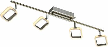 Esto LED Design Decken Lampe dimmbar Wohn Zimmer Chrom Spot Leuchte Strahler verstellbar Esto 762027-4