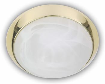 niermann-standby-deckenleuchte-rund-glas-alabaster-dekorring-messing-poliert-30cm