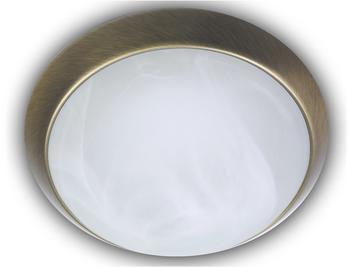 niermann-standby-deckenleuchte-rund-glas-alabaster-dekorring-altmessing-40cm
