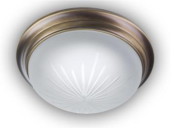 niermann-standby-deckenleuchte-rund-schliffglas-satiniert-dekorring-altmessing-gewoelbt-30cm