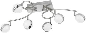 WOFI Ster 9285.12.54.6500 LED-Deckenstrahler 36W Warmweiß, Neutralweiß, Tageslichtweiß Nickel (ma
