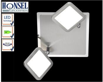 Fischer & Honsel Honsel LED-Strahler-Deckenleuchte Plate 2flg.