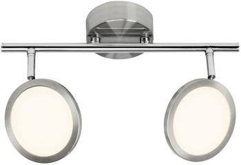 Brilliant Pluto G30513/13 LED-Deckenstrahler 10W Warmweiß Edelstahl, Weiß