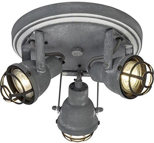 Brilliant Bente LED Spotrondell, 3-flammig brau Beton