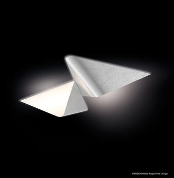 Grossmann Leuchten Delta 2-flg. Aluminium gebürstet (72-781-072)