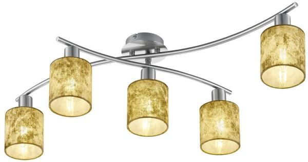 Trio Garda Deckenleuchte E14 gold Nickel matt (605400579)