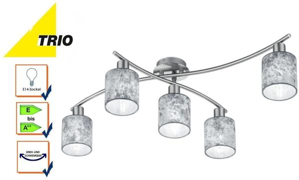 Trio Garda Deckenleuchte E14 silber Nickel matt (605400589)