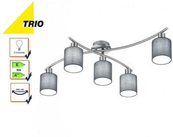 Trio Garda Deckenleuchte E14 grau Nickel matt (605400511)